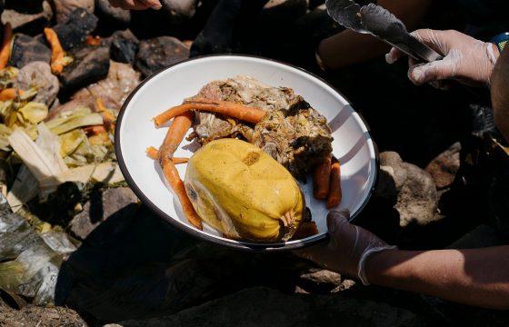 Un plato de la antigua cocina peruana en Vermont